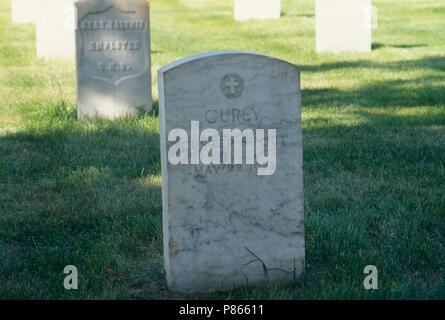 Grave of Curley, Custer's Native American scout, Custer National Cemetery, Montana. Photograph - Stock Photo