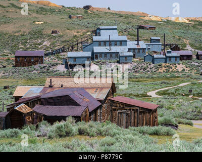 Standard Stamp Mill, Bodie ghost town, Bodie State Historic Park, California. - Stock Photo