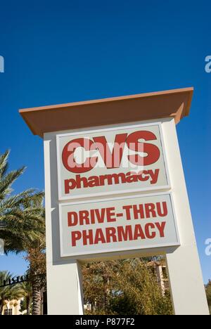 CVS Pharmacy Sign USA - Stock Photo