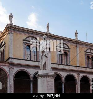 Dante Statue, Verona, Italy - Stock Photo