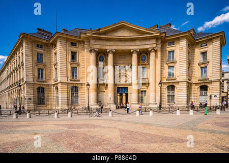 The Pantheon-Sorbonne University in Paris, France - Stock Photo