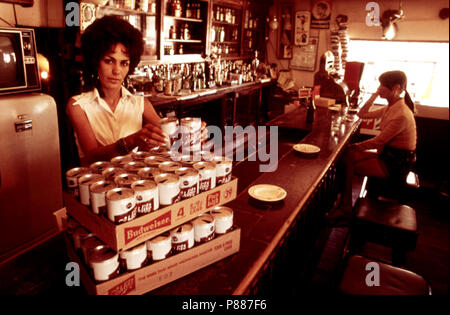 Empty Steel Beer and Soft Drink Cans Were Accumulated from a Variety of Sources near Taos, New Mexico, to Be Used in Building Experimental Houses. 1972 - Stock Photo