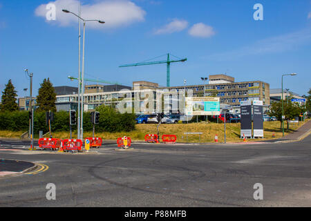 7 Juy 2018 The Ulster Hospital in Dundoald Belfast Northern Ireland in the process of much needed modernisation as the N.H.S celebrates its 70th Birth - Stock Photo