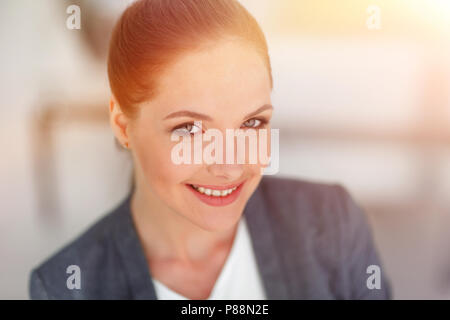 portrait of a successful woman. close-up. - Stock Photo