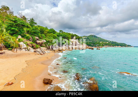 Beautiful beach on the island of Koh Samui in Thailand. - Stock Photo