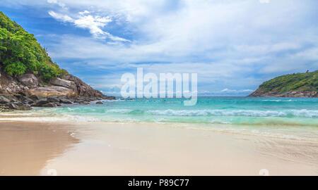 Paradise Patok beach on Racha Yai Island in Thailand. - Stock Photo