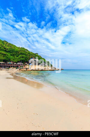 Haad Rin beach. Venue of the famous Full Moon Party. Koh Phangan. Thailand. - Stock Photo