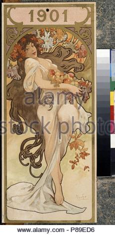 Calendar. 1901. Museum: State A. Pushkin Museum of Fine Arts, Moscow. - Stock Photo