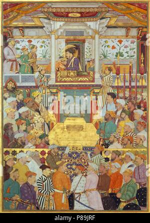 Shah-Jahan. (From: Padshahnama, or Chronicle of the King of the World). Museum: PRIVATE COLLECTION. - Stock Photo