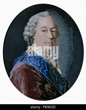Portrait of Count Mikhail Illarionovich Vorontsov (1714-1767). Museum: State Hermitage, St. Petersburg. - Stock Photo