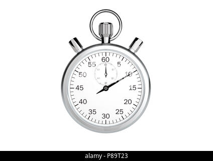 Stopwatch only on white background - Stock Photo