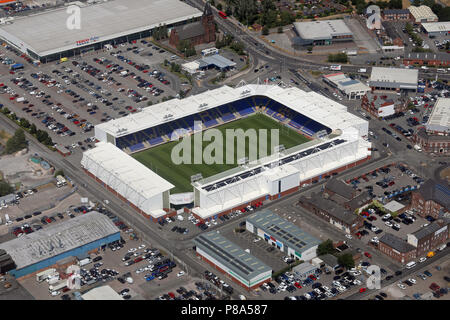 aerial view of Warrington Wolves Halliwell Jones Stadium home of the Super League rugby league club - Stock Photo