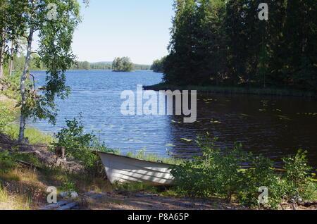 Scenic lake in the heart of Dalarna in Sweden - Stock Photo