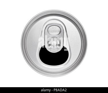 Drinks Can Top with Ring Pull, Cut Out - Stock Photo