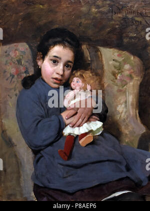 The doll by Isidoro Grunhut 1891, Italy, Italian - Stock Photo