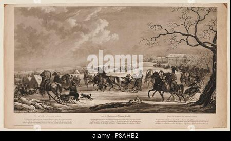 Race of sledges at Krasny Kabachok (Little Red Tavern). Museum: PRIVATE COLLECTION. - Stock Photo