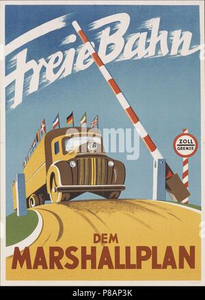 Free passage for the Marshall Plan. Museum: PRIVATE COLLECTION. - Stock Photo
