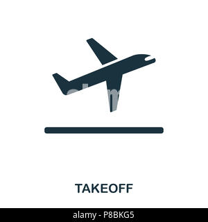 Takeoff icon. Line style icon design. UI. Illustration of takeoff icon. Pictogram isolated on white. Ready to use in web design, apps, software, print - Stock Photo