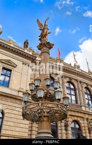 Rudolfinum concert hall, Prague, Czech RepublicPrague old town Czech Republic - Stock Photo