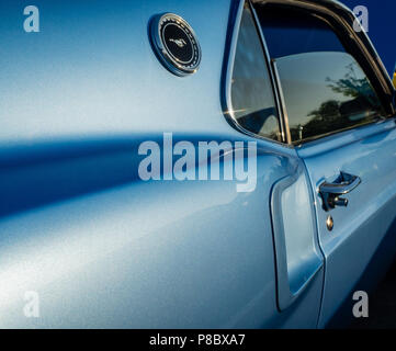 1969 classic Ford Mustang at car show in the Hamptons, New York. - Stock Photo