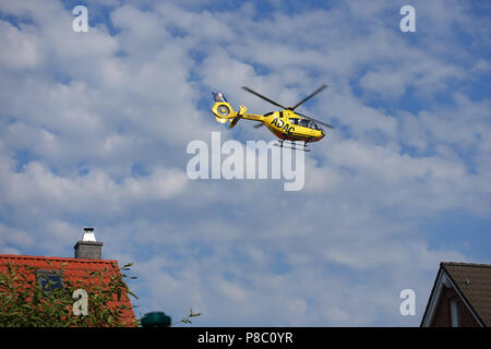 Berlin, Germany, ADAC rescue helicopter Christoph 31 in flight Stock Photo