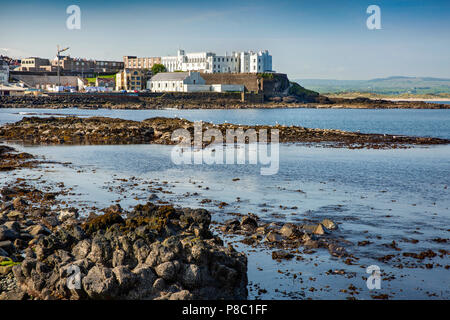 UK, Northern Ireland, Co Londonderry, Portstewart, Dominican College in 1834 'Rock Castle' - Stock Photo