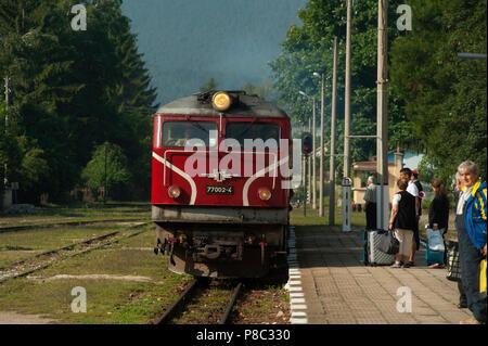 Train Travel Bulgaria, Balkans, - Stock Photo