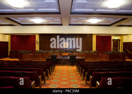 Wide view of the auditorium at the idaho state capitol in boise idaho. - Stock Photo