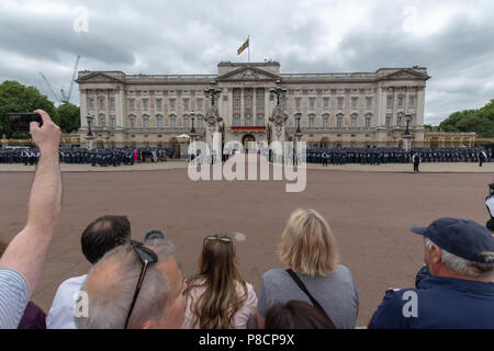 London, UK. 11th July 2018. RAF 100 Credit: Andrew Lalchan/Alamy Live News - Stock Photo