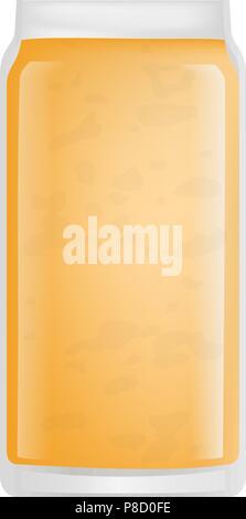 Apricot smoothie icon, realistic style - Stock Photo