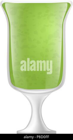 Kiwi smoothie icon, realistic style - Stock Photo