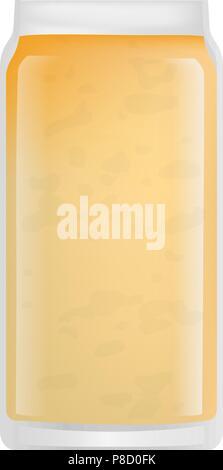 Banana smoothie icon, realistic style - Stock Photo