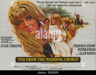 Far from the Madding Crowd (1968) Publicity information, film poster     Date: 1968 - Stock Photo
