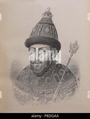 Portrait of the Tsar Michail I Fyodorovich of Russia (1596-1645). Museum: PRIVATE COLLECTION. - Stock Photo