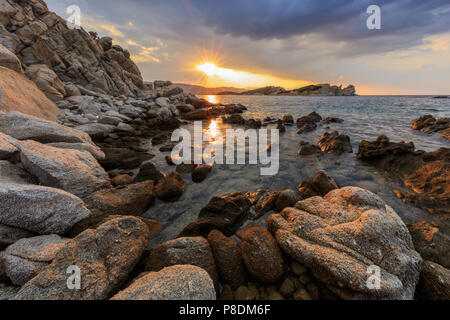 sunrise in Ammouliani Island, Chalkidiki, Northern Greece - Stock Photo