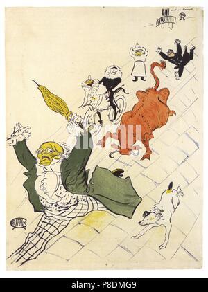 La Vache enragée  (Poster). Museum: State A. Pushkin Museum of Fine Arts, Moscow. - Stock Photo