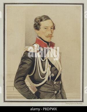 Portrait of Prince Vladimir Ivanovich Baryatinsky (1817-1875). Museum: State Hermitage, St. Petersburg. - Stock Photo