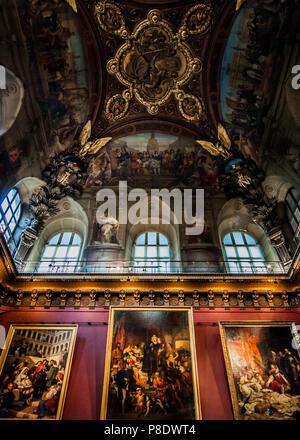Inside Louvre Museum, Paris, France. - Stock Photo