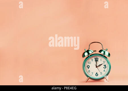 Vintage style alarm clock with room for free background space for