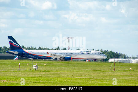 SHEREMETYEVO, MOSCOW REGION, RUSSIA - June 28, 2017:  Airbus A330 of Aeroflot Airlines at Sheremetyevo International Airport. - Stock Photo