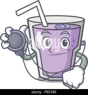 Doctor berry smoothie character cartoon - Stock Photo