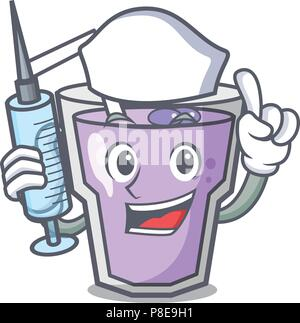 Nurse berry smoothie character cartoon - Stock Photo