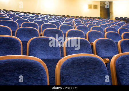 blue seats in a theater