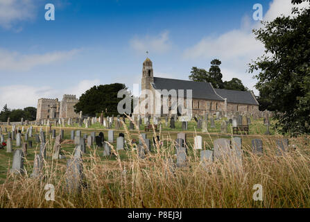 Ford parish church on the Ford and Etal estate, Northumberland - Stock Photo