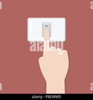 Electronic switch isolated on background. Vector illustration - Stock Photo