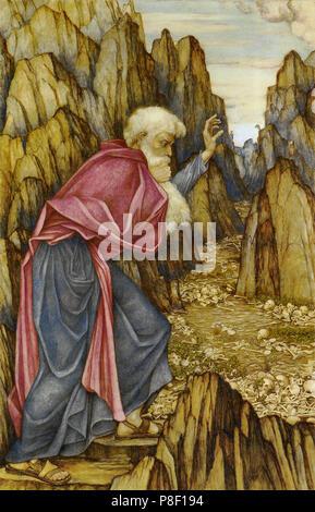 Spencer-Stanhope  John Roddam - the Vision of Ezekiel - Valley of the Dry Bones - Stock Photo