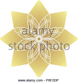 Circular geometric ornament - Stock Photo