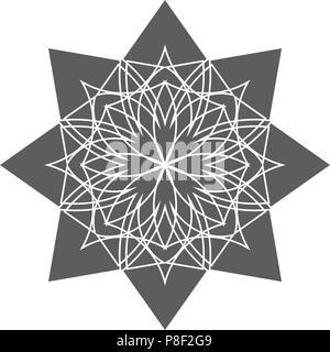 Circular geometrical ornament. - Stock Photo