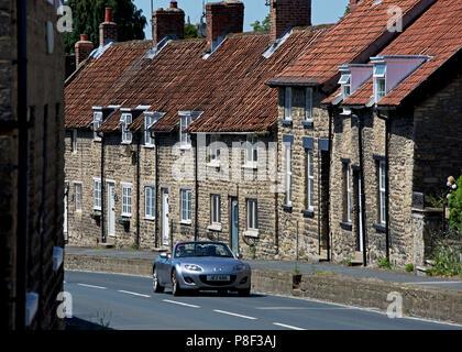 Sports car, Thornton-le-Dale, North Yorkshire, England UK - Stock Photo