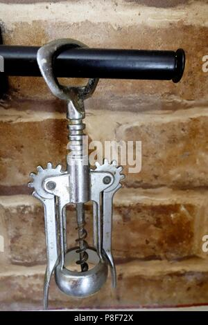 Classic Chrome Corkscrew - Stock Photo